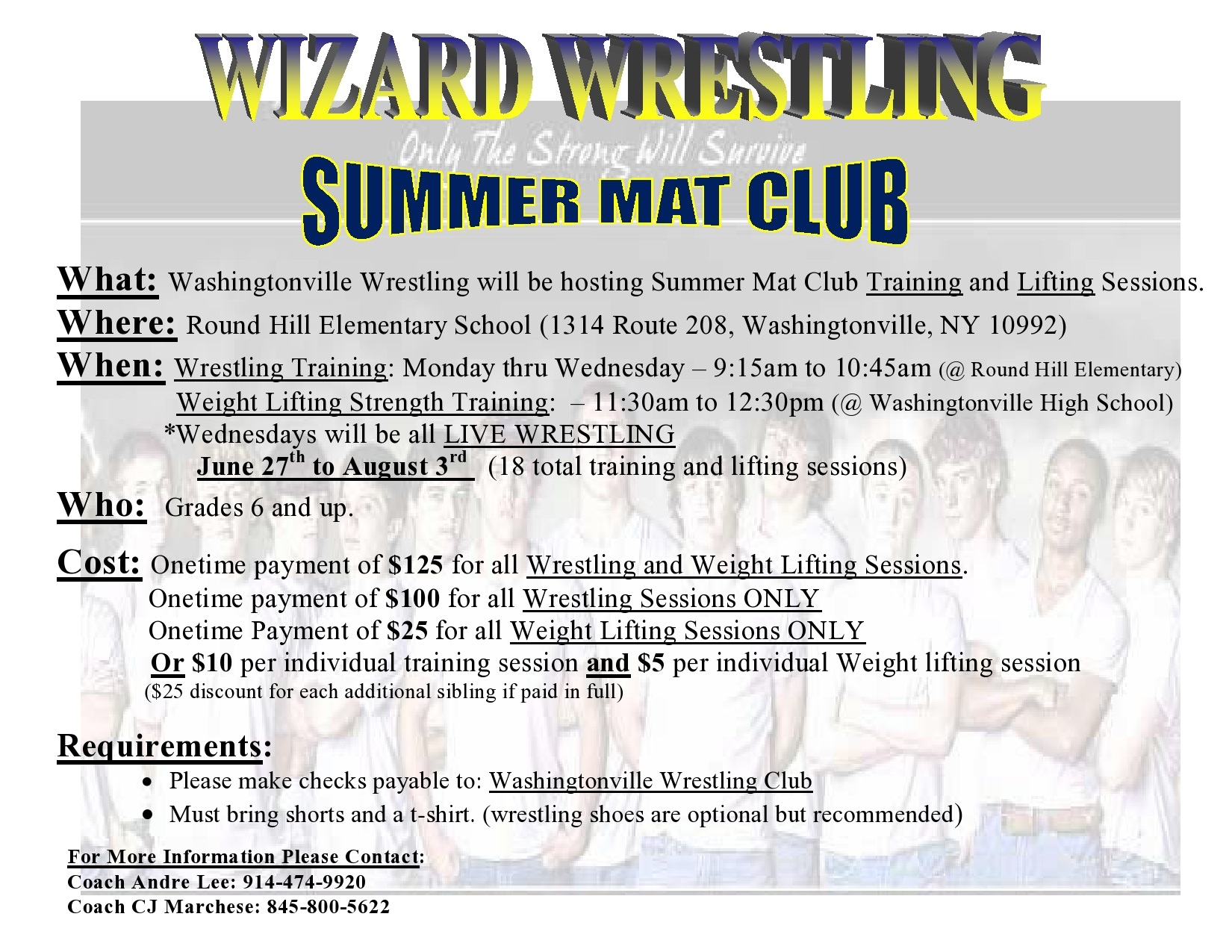 Wizard Summer Mat Club Poster 2016