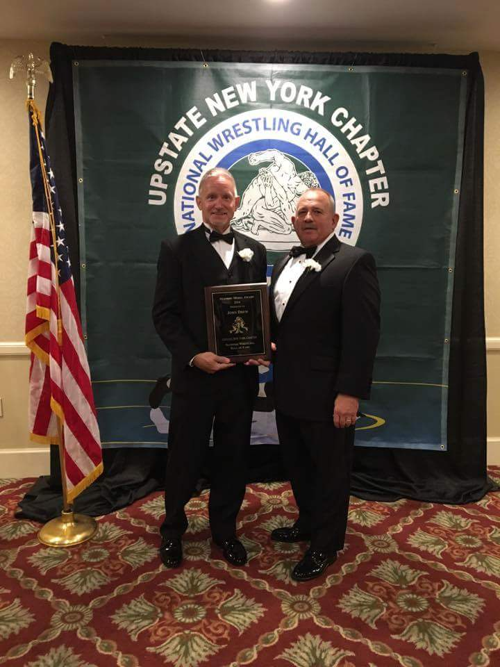 Coch Bob Zifchock with fellow HOF inductee John Drew from cnywrestling.com